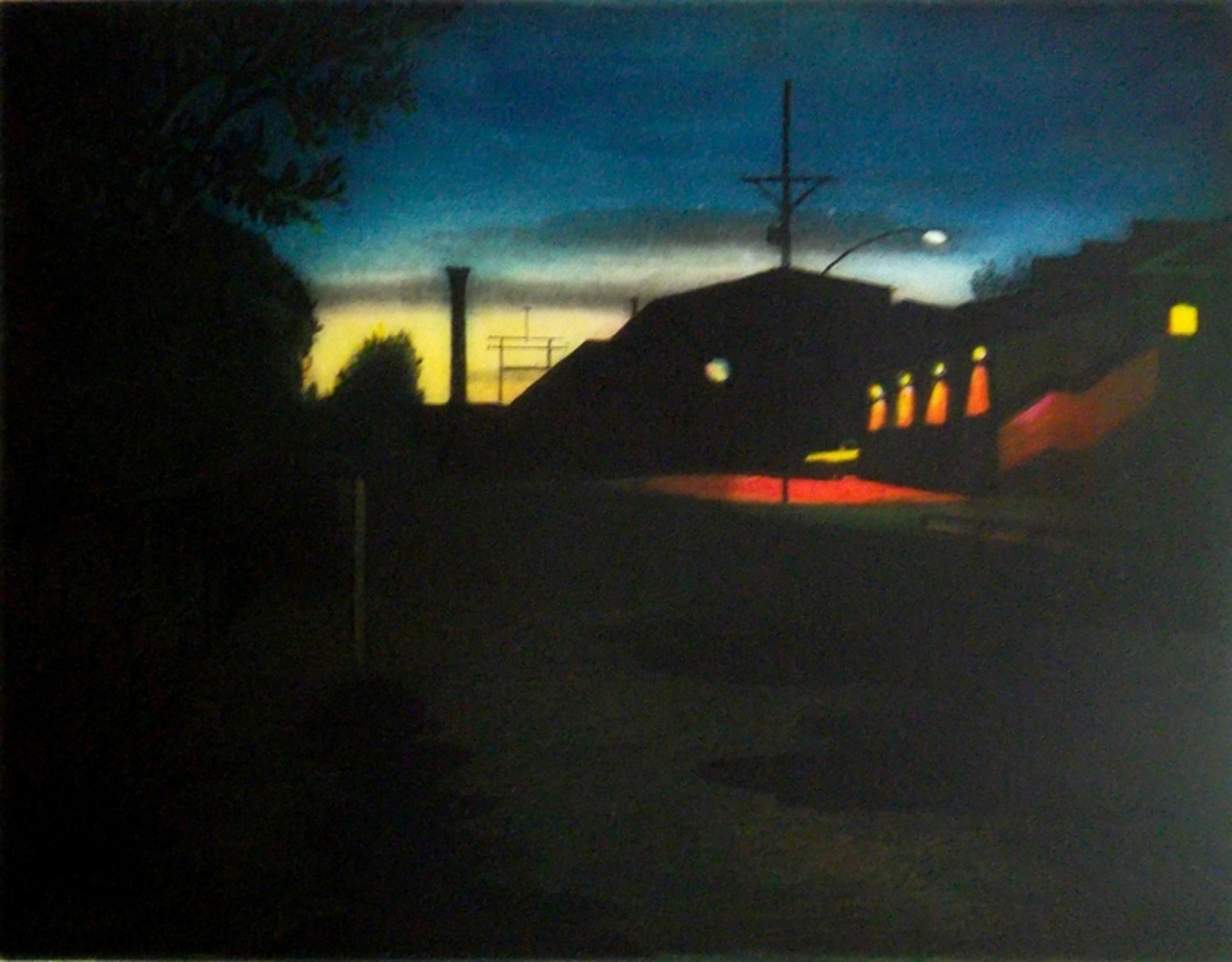 """Nocturne"",  multi-plate etching, $325 (unframed)"