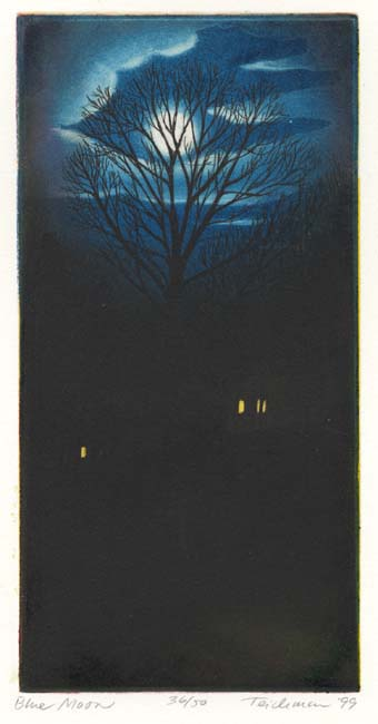 """Blue Moon"",  multi-plate etching, $ (unframed)"