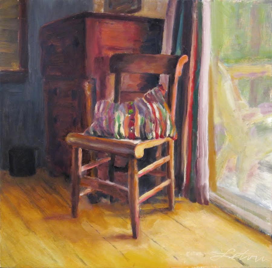 """Maine Interior #1"", oil, 12""x12"", $600 (framed)"