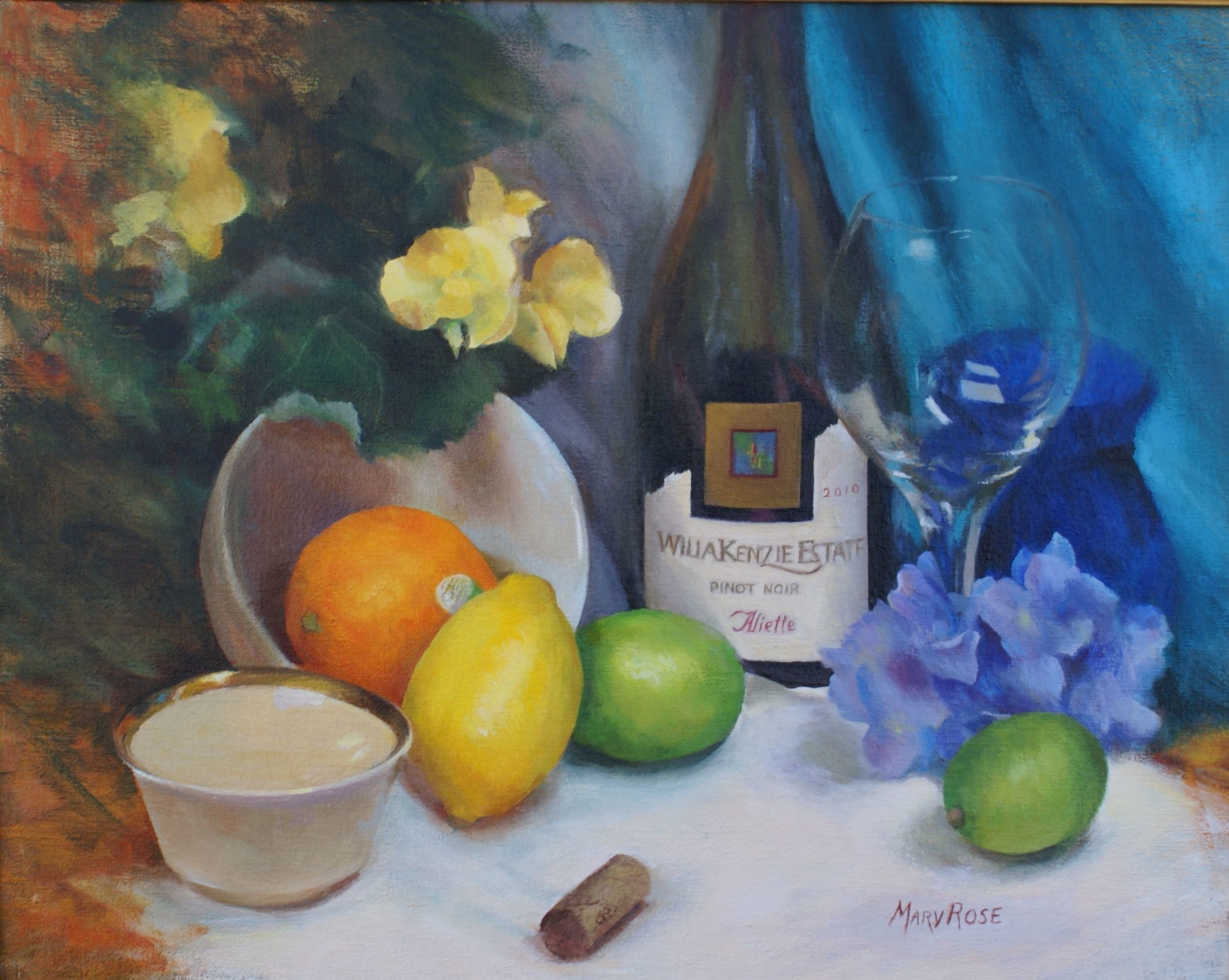 """""""Oregon Pinot"""", oil, 16"""" x 20"""", $3,200 (framed)"""