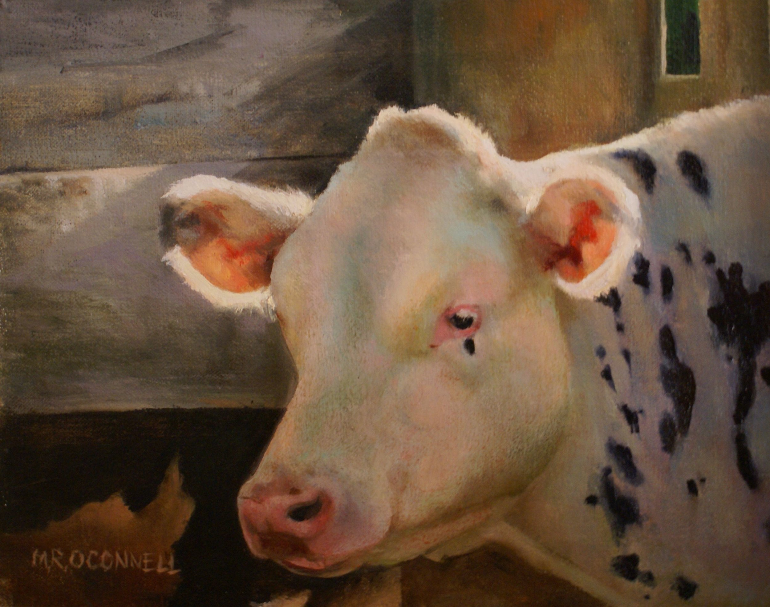 """Cows At Great Brook Farm"", oil, 16"" x 20"", $1,200 (framed)"
