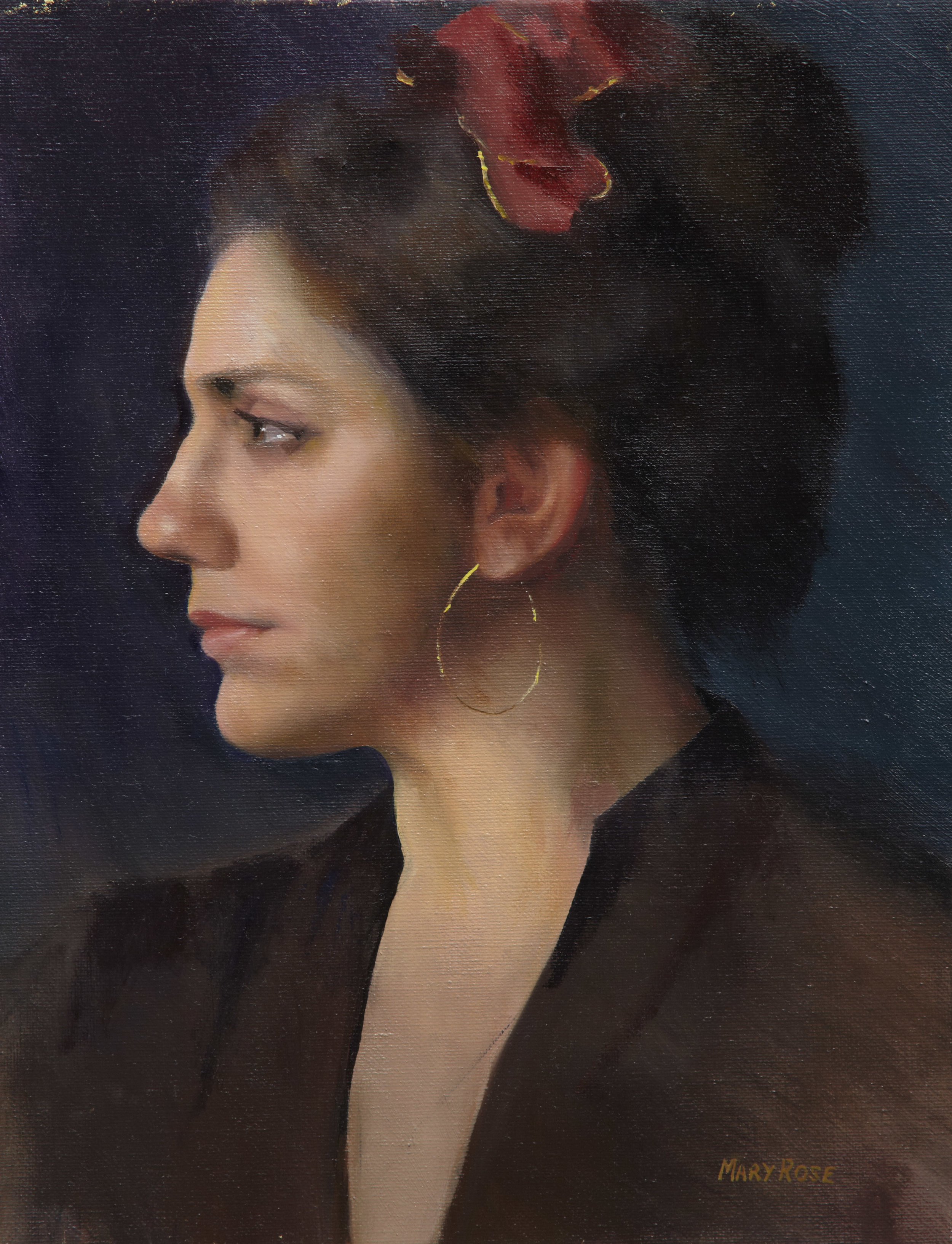 """Sara"", oil 14"" x 11"", commission"
