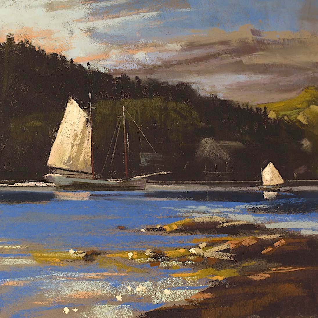 Grob_Harbor Meet Up_pastel_14x14_$800.jpg