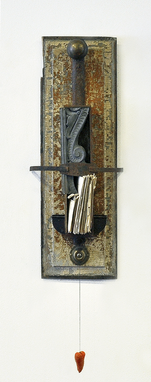 """""""Letters To Grandfather"""", mixed media, 28"""" x 11"""", $800"""