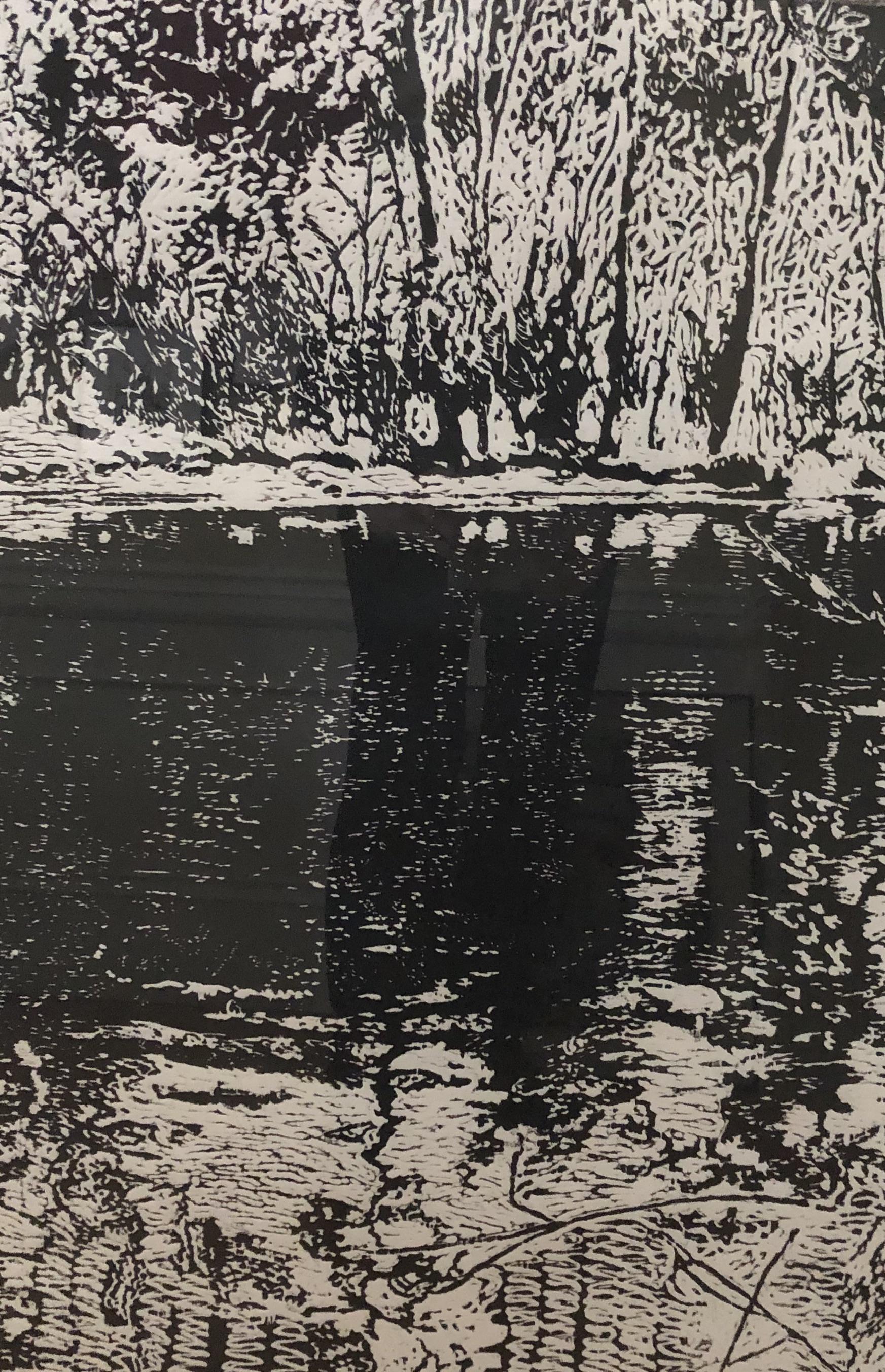 """Winter Woods"", woodcut"