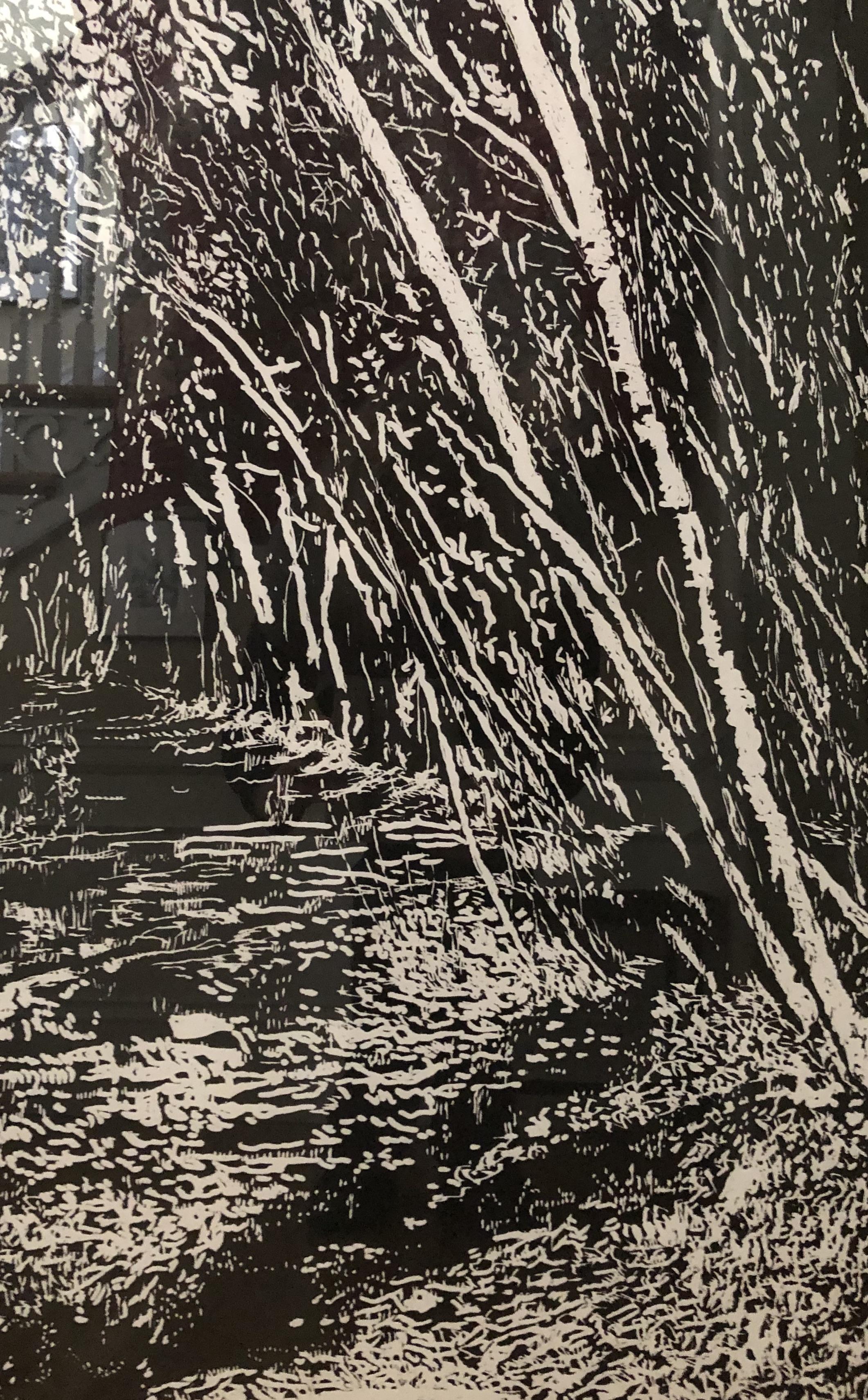 """""""Florie's Path"""", woodcut"""