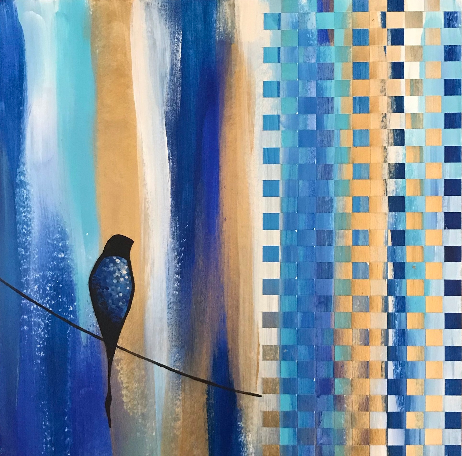 """Patience In Blue II"" SOLD"
