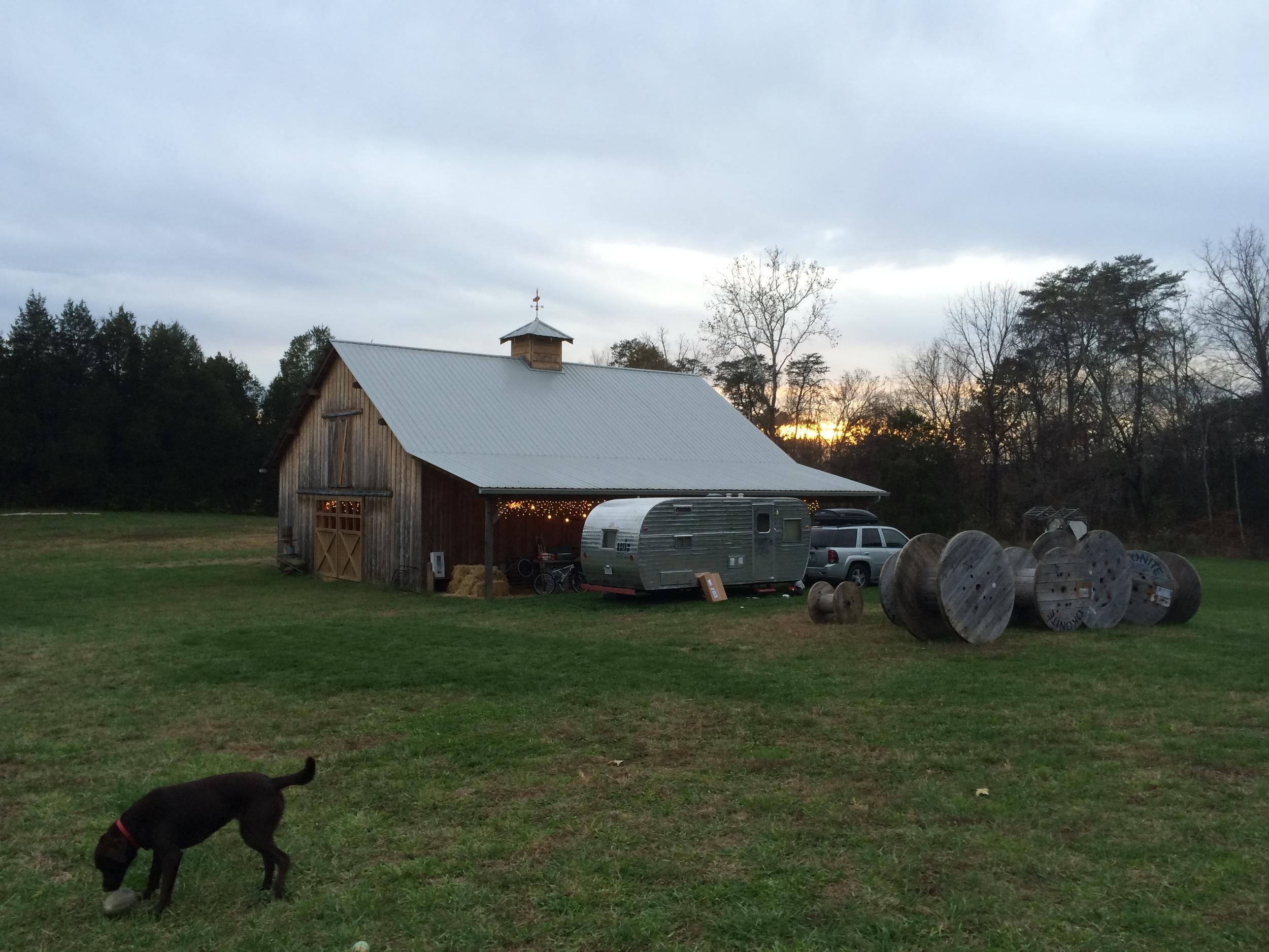 The barn at Roseberry Farms