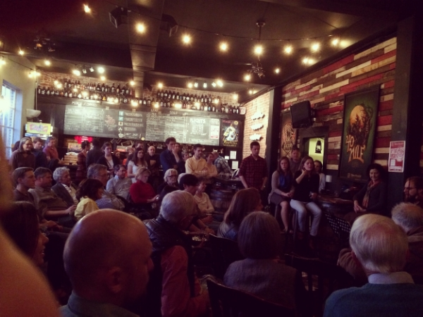 A packed house at the Three Notch'd Brewing company in Charlottesville, VA