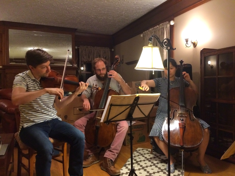 An evening of chamber music reading with Robin and Ahrim in Rochester, NY