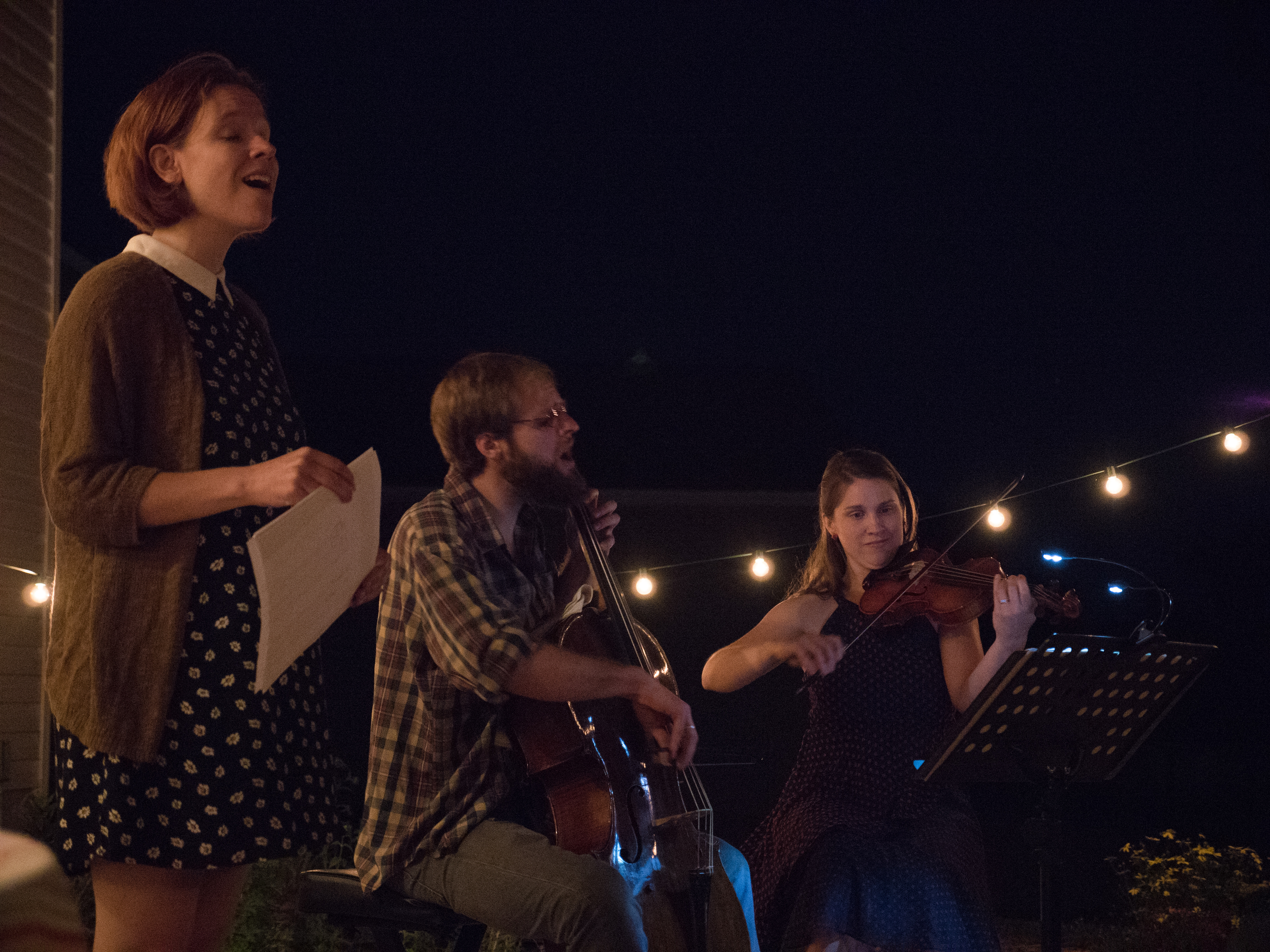 Joined by our host Abbie Foster on violin (this photo and the one of Lucy above by Mathias Reed)