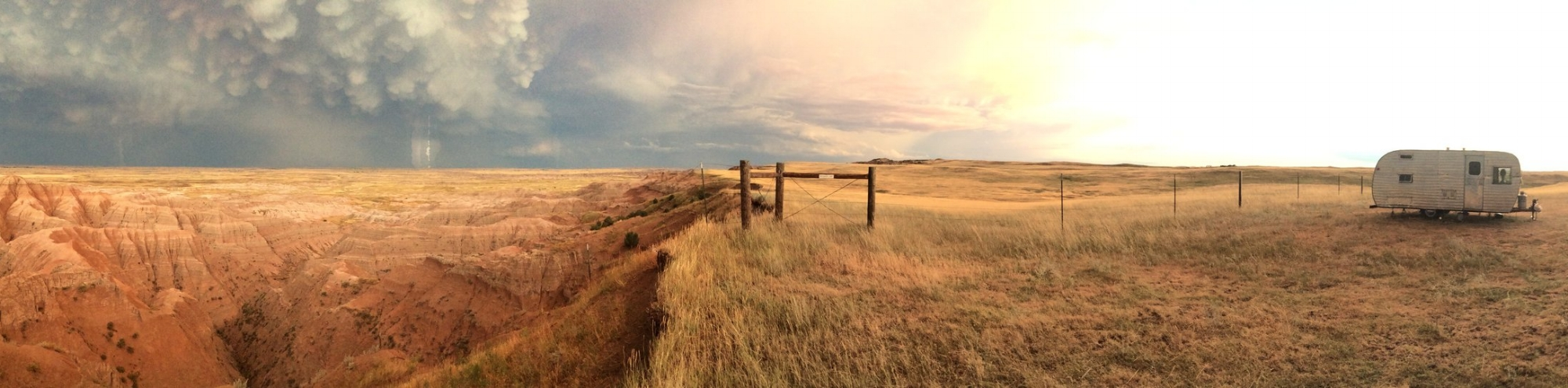 Our camping spot in the Badlands, South Dakota