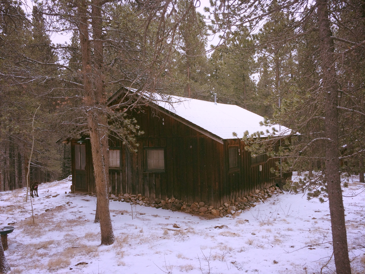 A cabin in the mountains - a perfect place to rest and reflect.