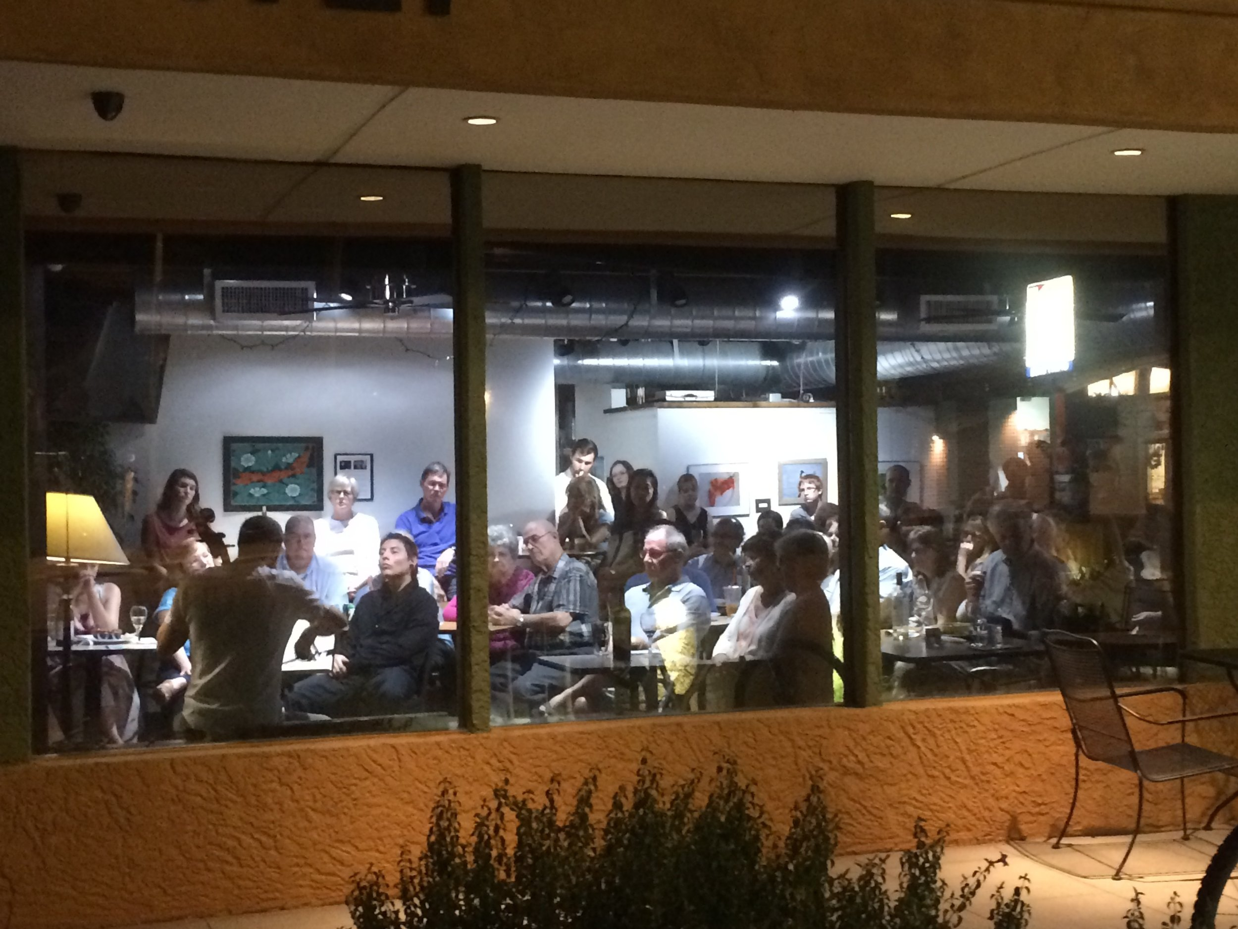 A view from outside Arizona's cafe concert