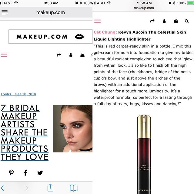 A little late, but just found the article!!! Your girl is featured on @makeupdotcom! 🙀 Thank you for including me in your story @marisa_petrarca! 🙏🏼
