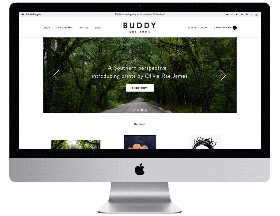 Buddy Editions Web Design