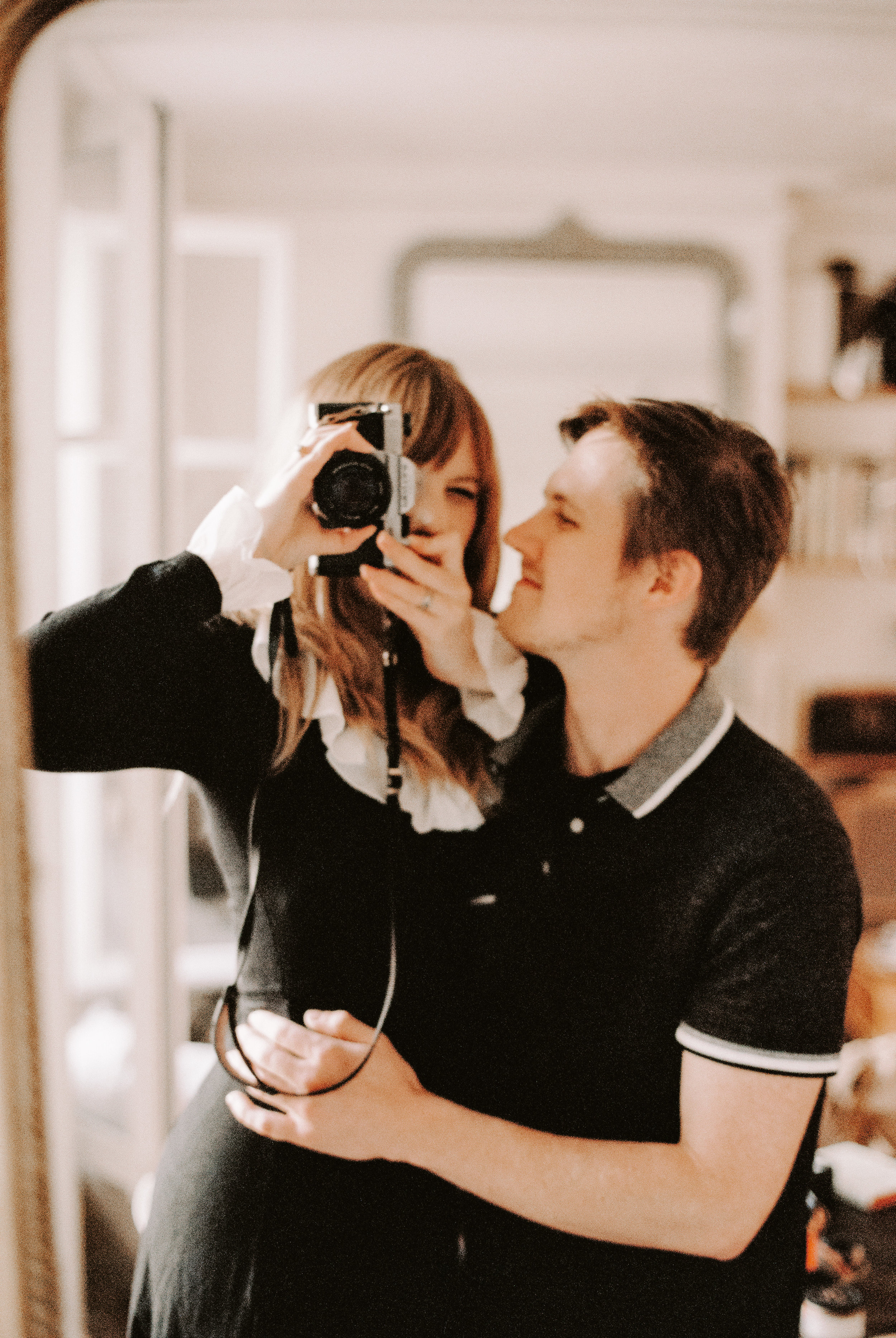 A blurry, out of focus self portrait of us in the apartment right before we headed to dinner at La Boîte aux Lettres. A favorite.