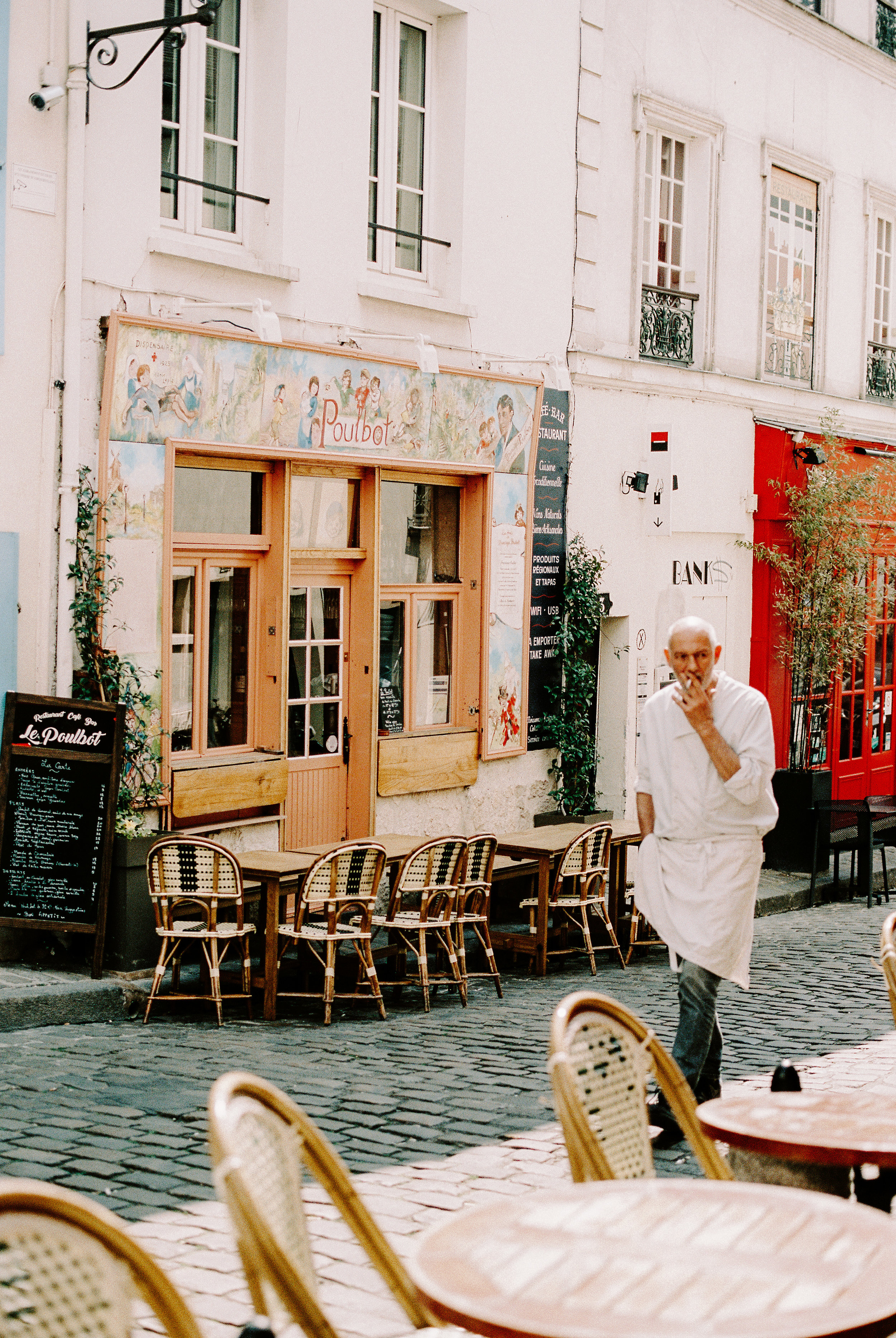 A delightful traditional Parisian restaurant, Poulbot, where we ate twice during our stay. It's tiny inside but absolutely charming and romantic - with the best onion soup I've ever eaten. I'm still dreaming of those meals.