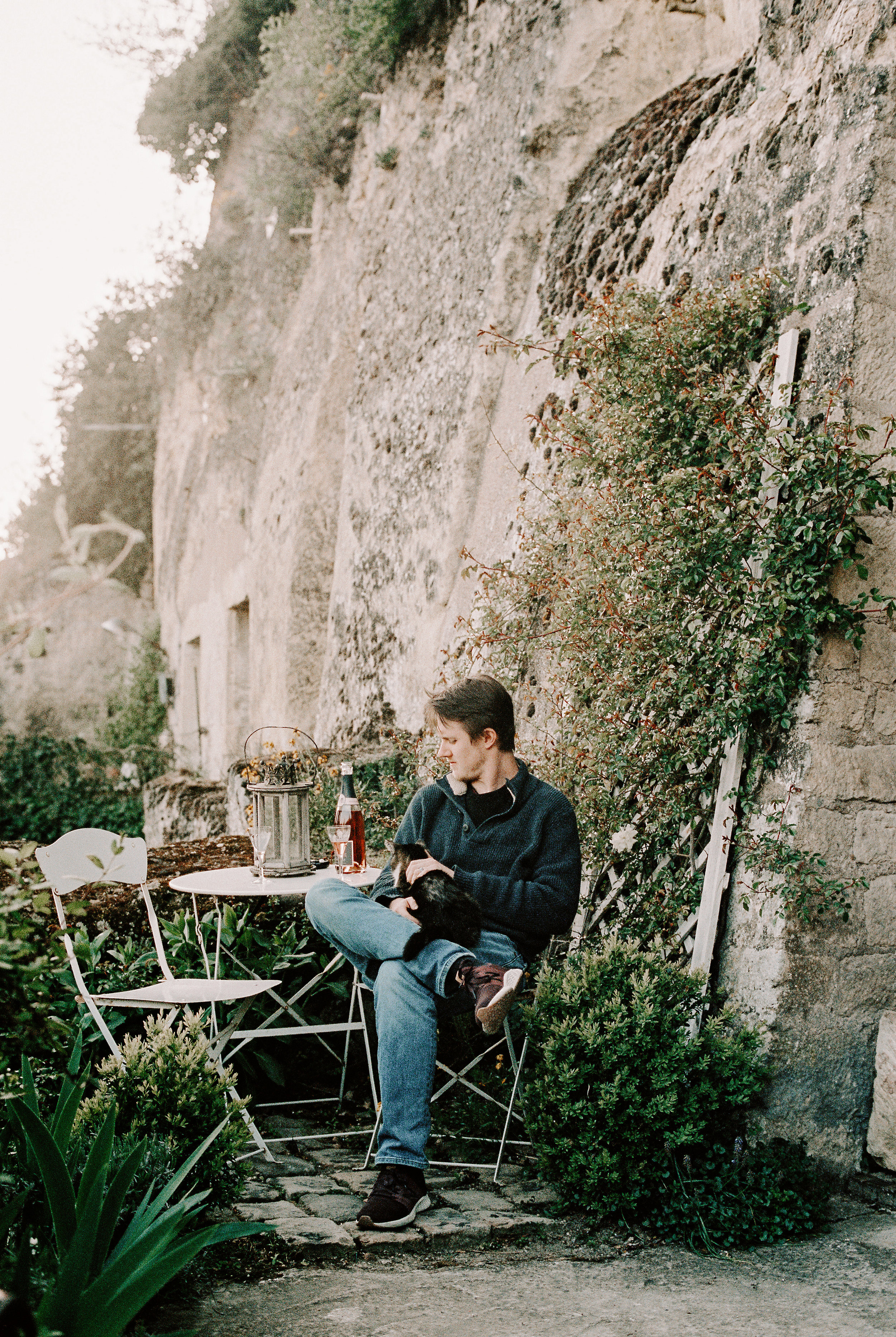 Brock sitting on our terrace the first night in Amboise. We stayed in a troglodyte - a cave built into the limestone hills which pepper the area. The limestone was hauled to the city centuries ago to build the chateau and people have lived in these caves for longer than we can imagine.