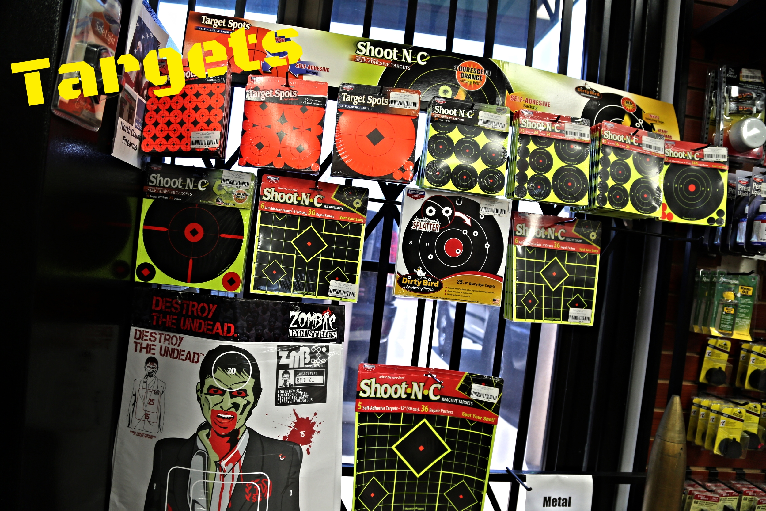 If you are in need of targets for your next shooting trip, be sure to stop by and grab some Shoot-N-C targets, Zombie targets, and many others that we have in stock!