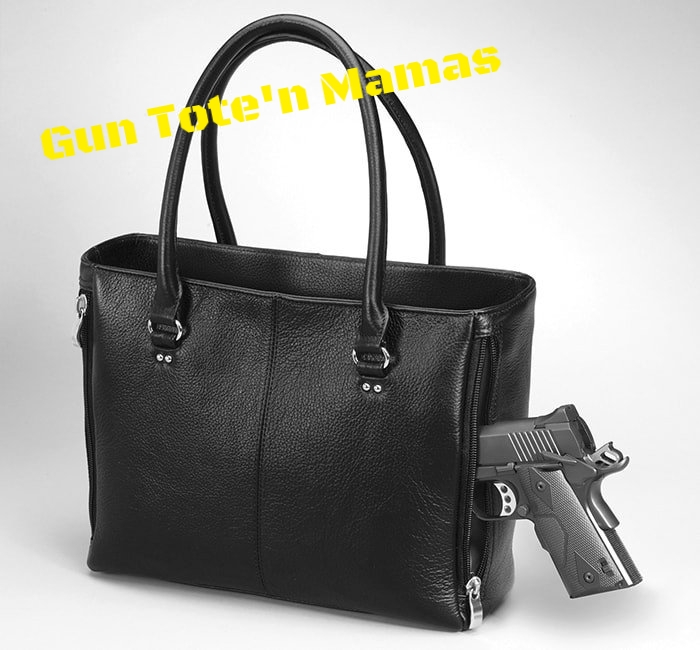 Gun Tote'n Mamas™, an affordable line of Concealed Carry handbags, was inspired and developed BY WOMEN FOR WOMEN. Click the image to see the full line of GTM products that we carry / can order for you.