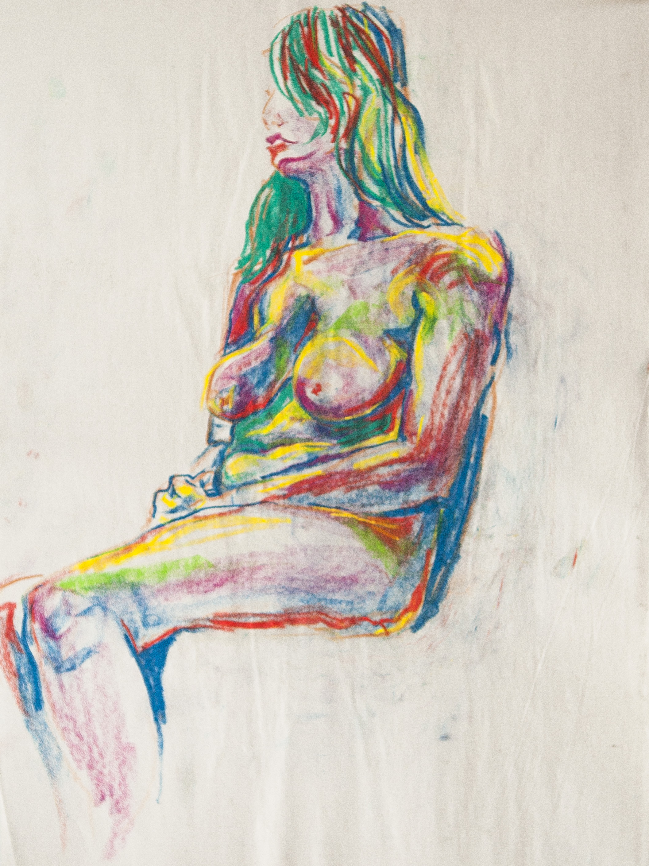 Figure Study with Color