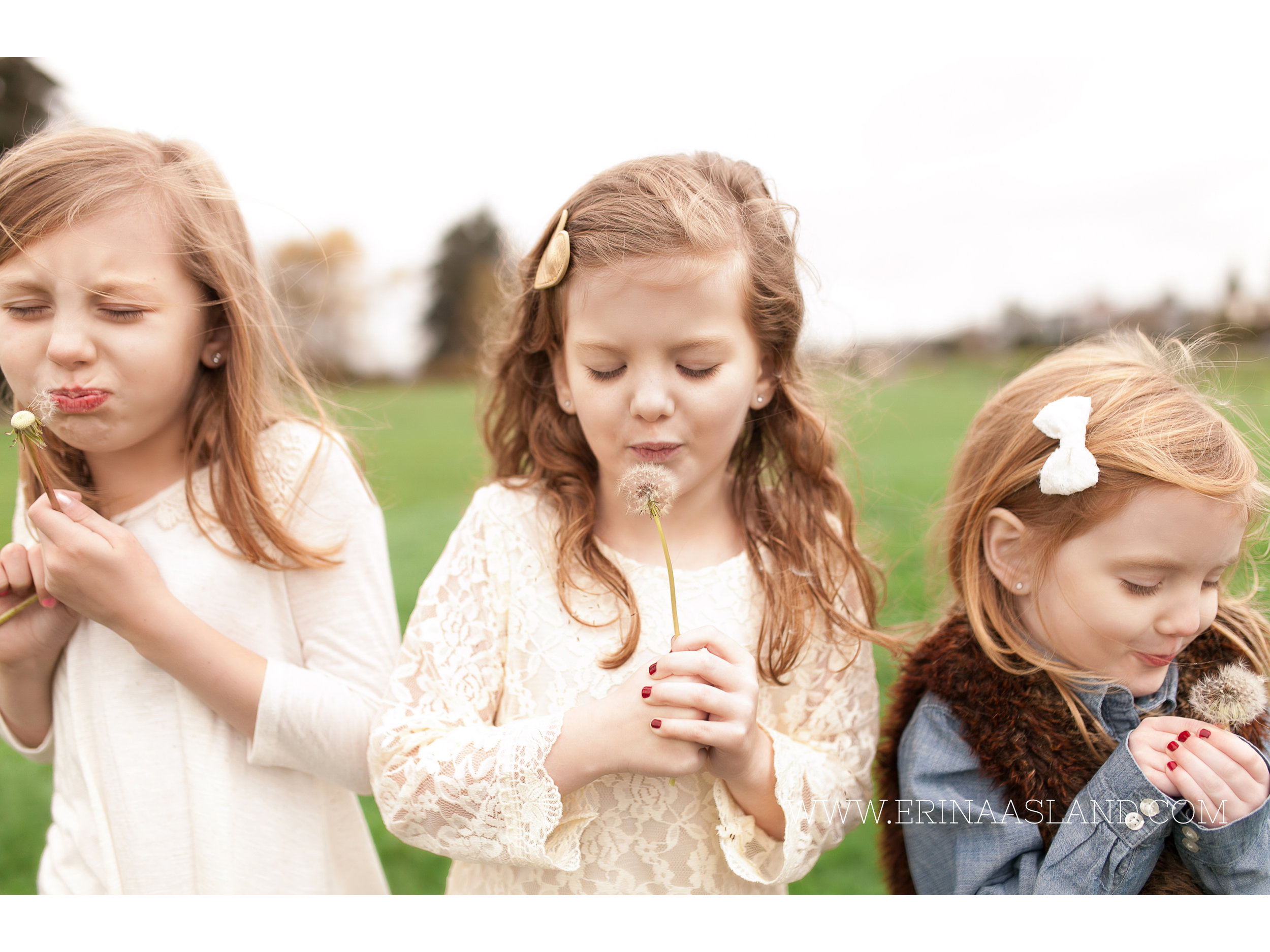 Erin Aasland Snoqualmie Childrens Photographer Sisters Dandilions