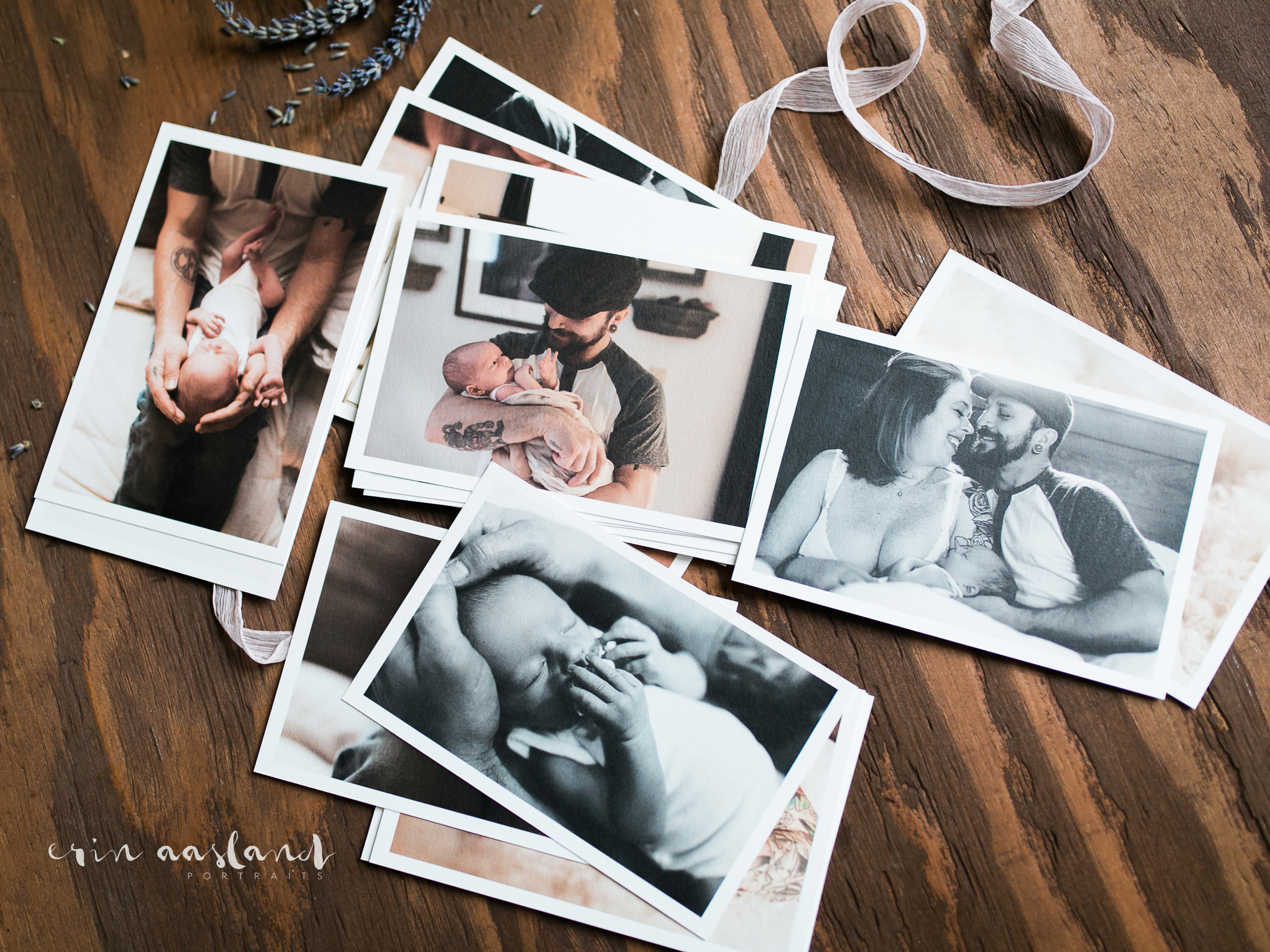 Erin Aasland Newborn Photographer Collection in Print