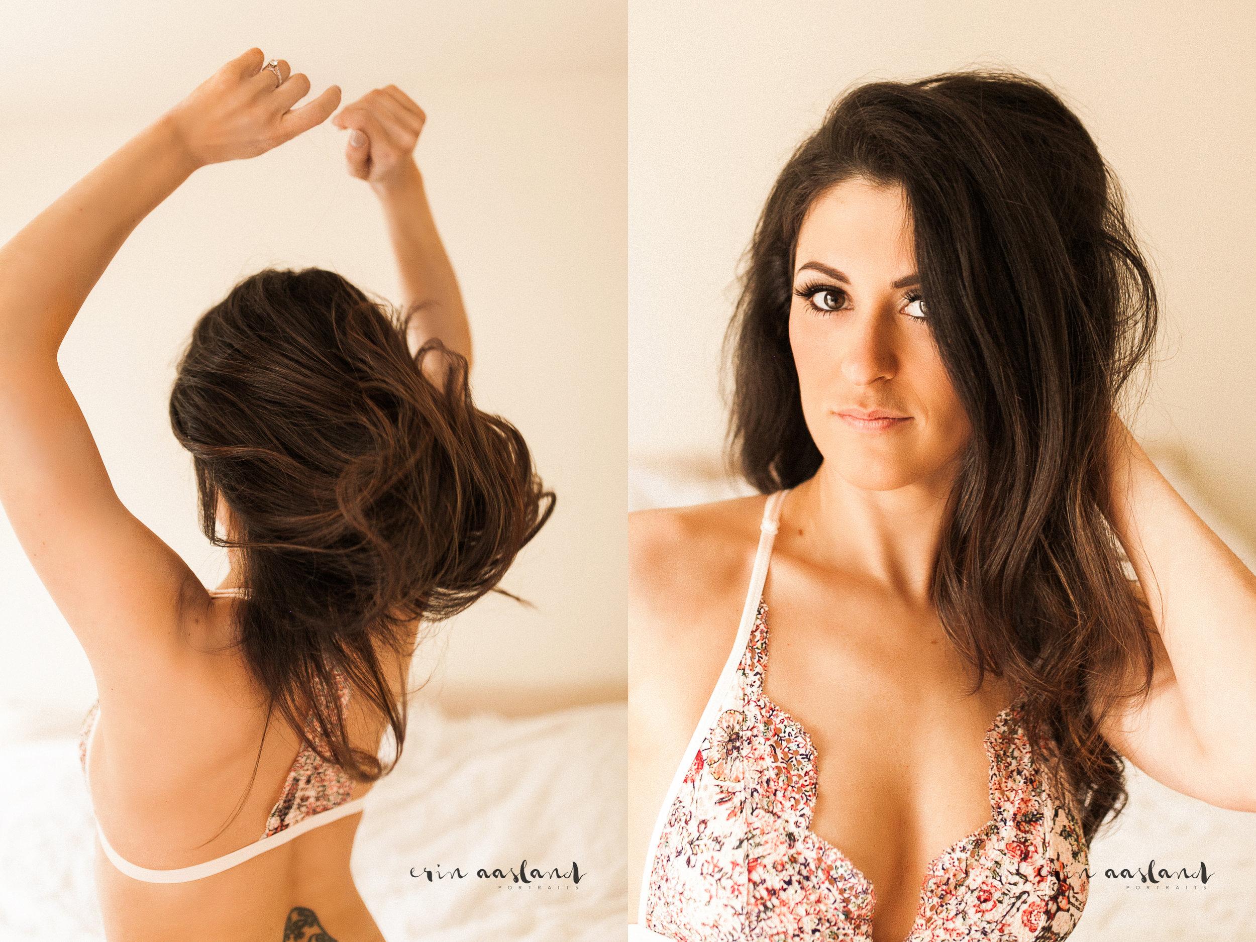 Erin Aasland Snoqualmie Boudoir Photography Hair Toss