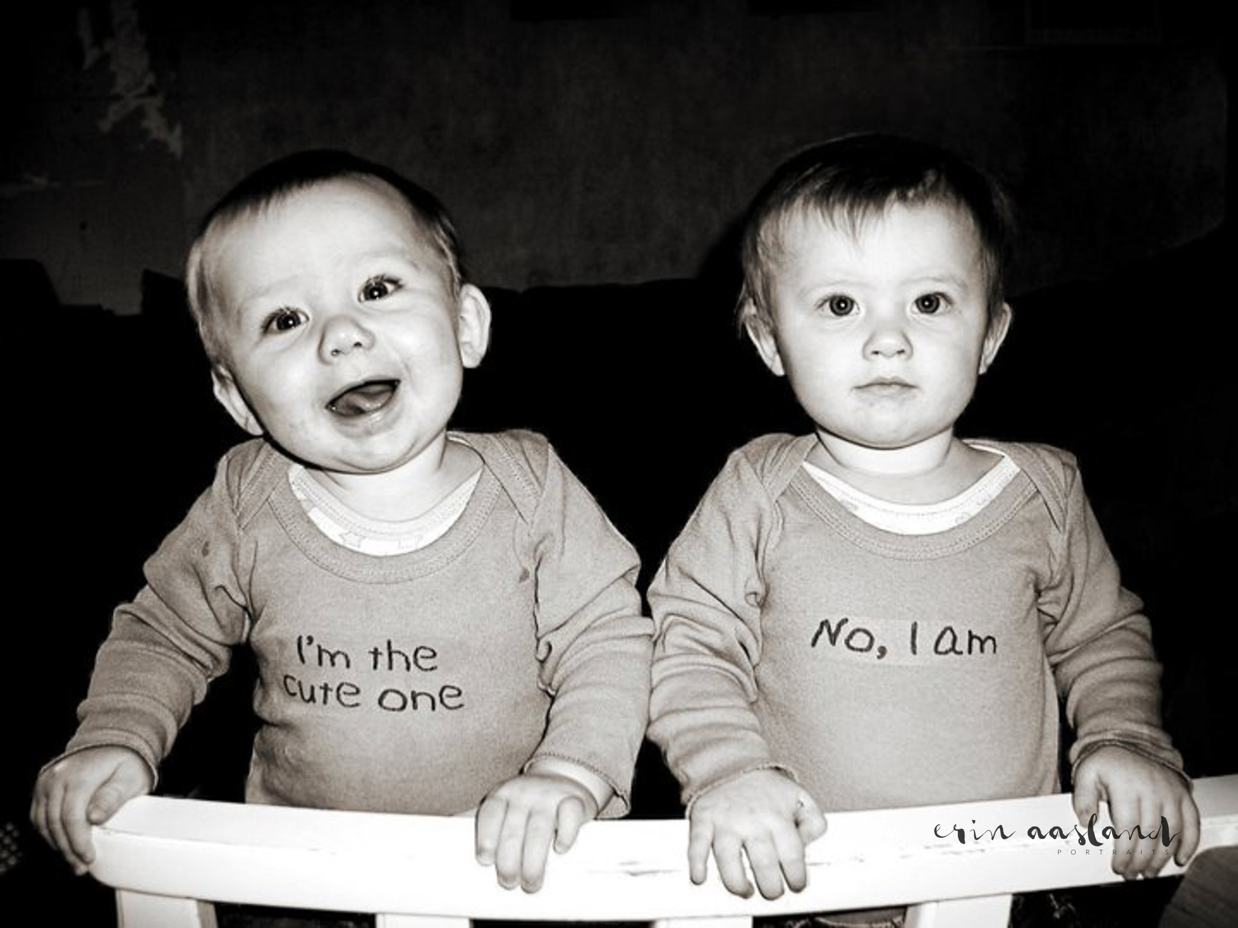 One of my favorite images of the twins because it completely sums them up.
