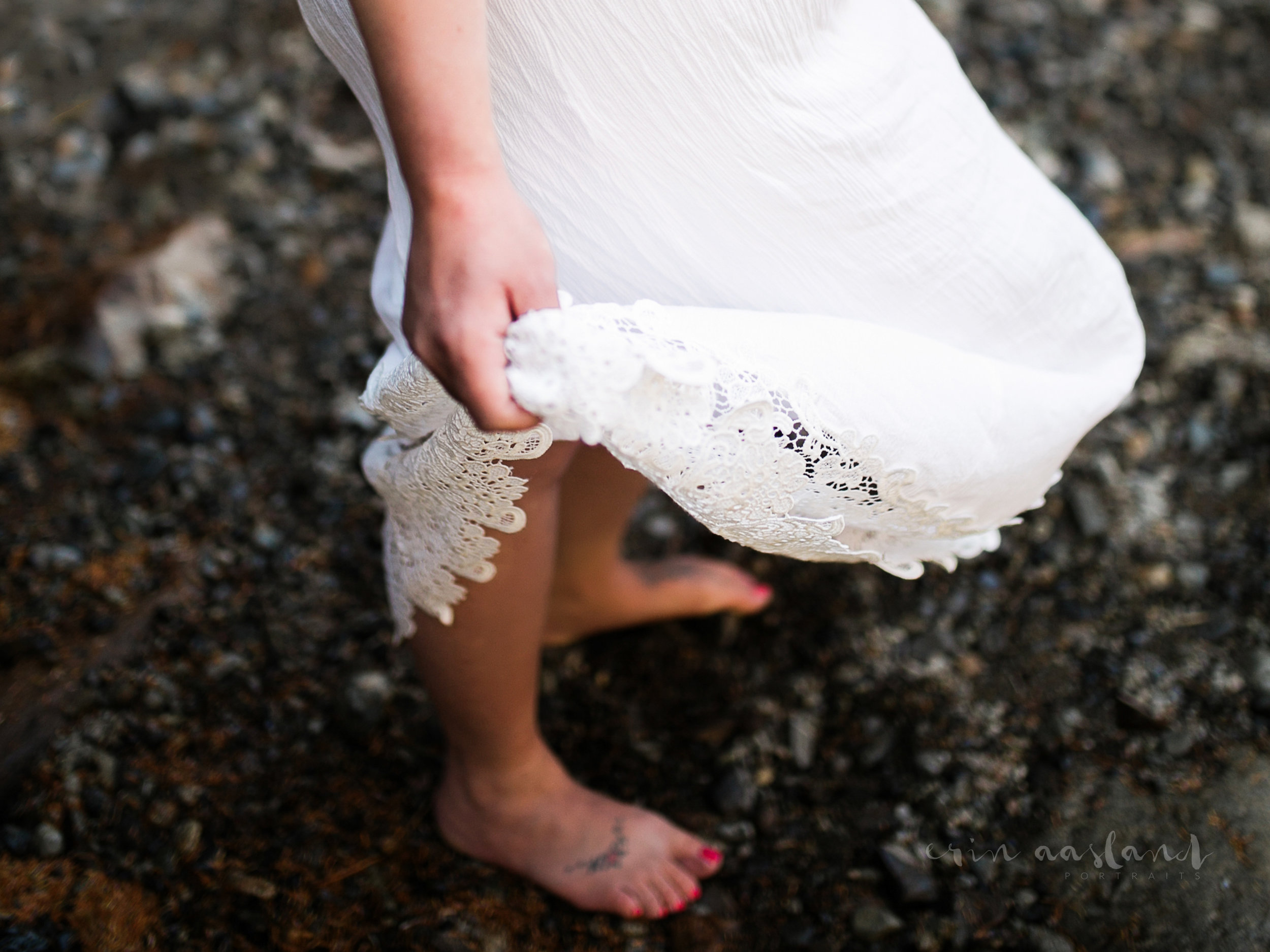 barefoot and pregnant lace dress waterfall