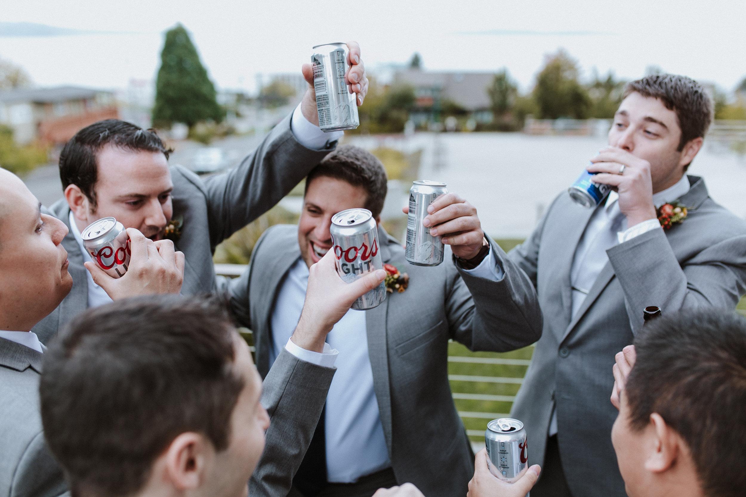 groomsmen beer cheers coors light