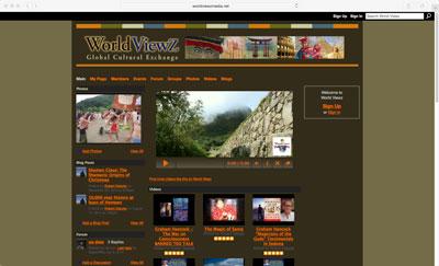 World Viewz Social Network Service Website