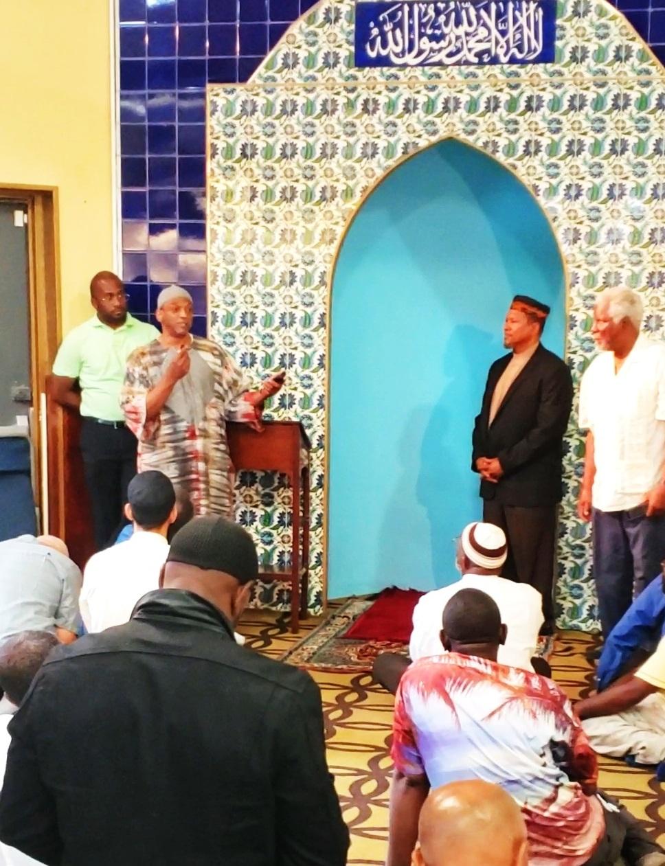Bryan (Harun) Jones, speaking at Jummah.