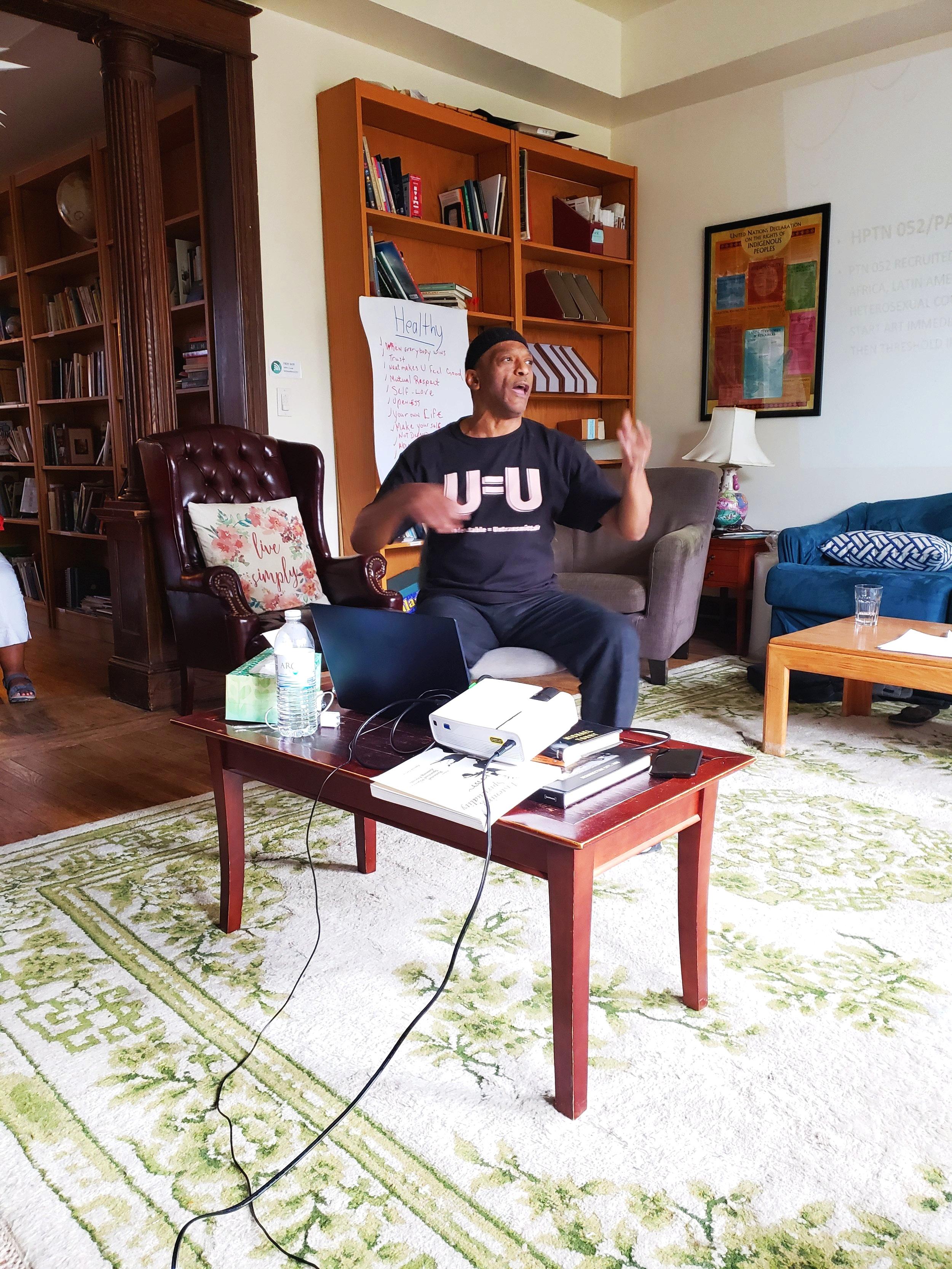 Bryan (Harun) Jones discussing  U equals U  and HIV Criminalization