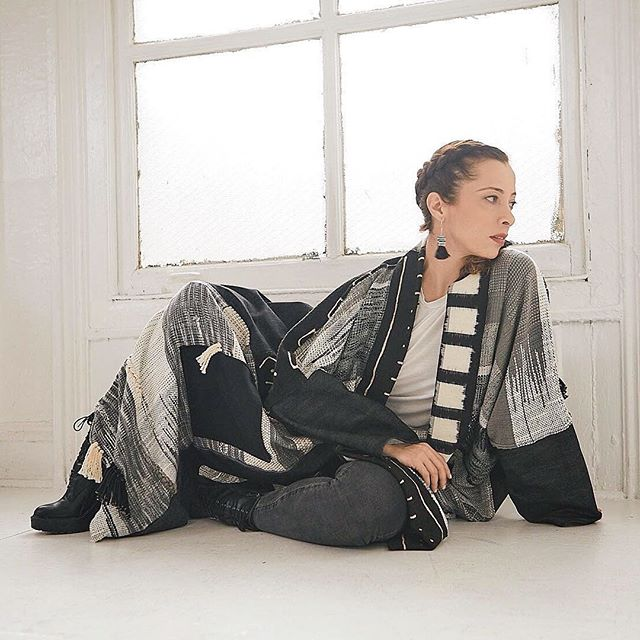 Honored to have @shinonyc traveling to us with her collection this weekend! Shino transforms handwoven textiles following a zero waste philosophy into unisex garments. Each piece is a work of wearable art, hand dyed and woven in NYC.
