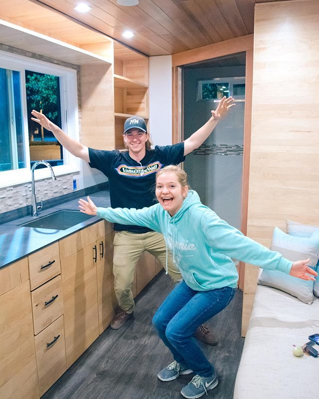 It is starting to feel like a finished house! The competition starts in just one week🐎 #SCUTinyHouse #excited #tinyhousemovement #tinyhousenation