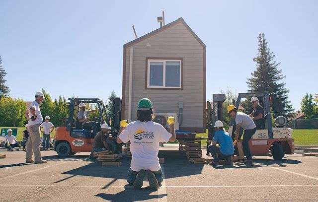 We are in Sacramento! Today marked the beginning of the SMUD Tiny House Competition. Construction continues until Tuesday and then Wednesday until Friday will be the judging, testing, and analysis. It will all culminate on Saturday with the award ceremony and public showing. It's going to be a huge week!