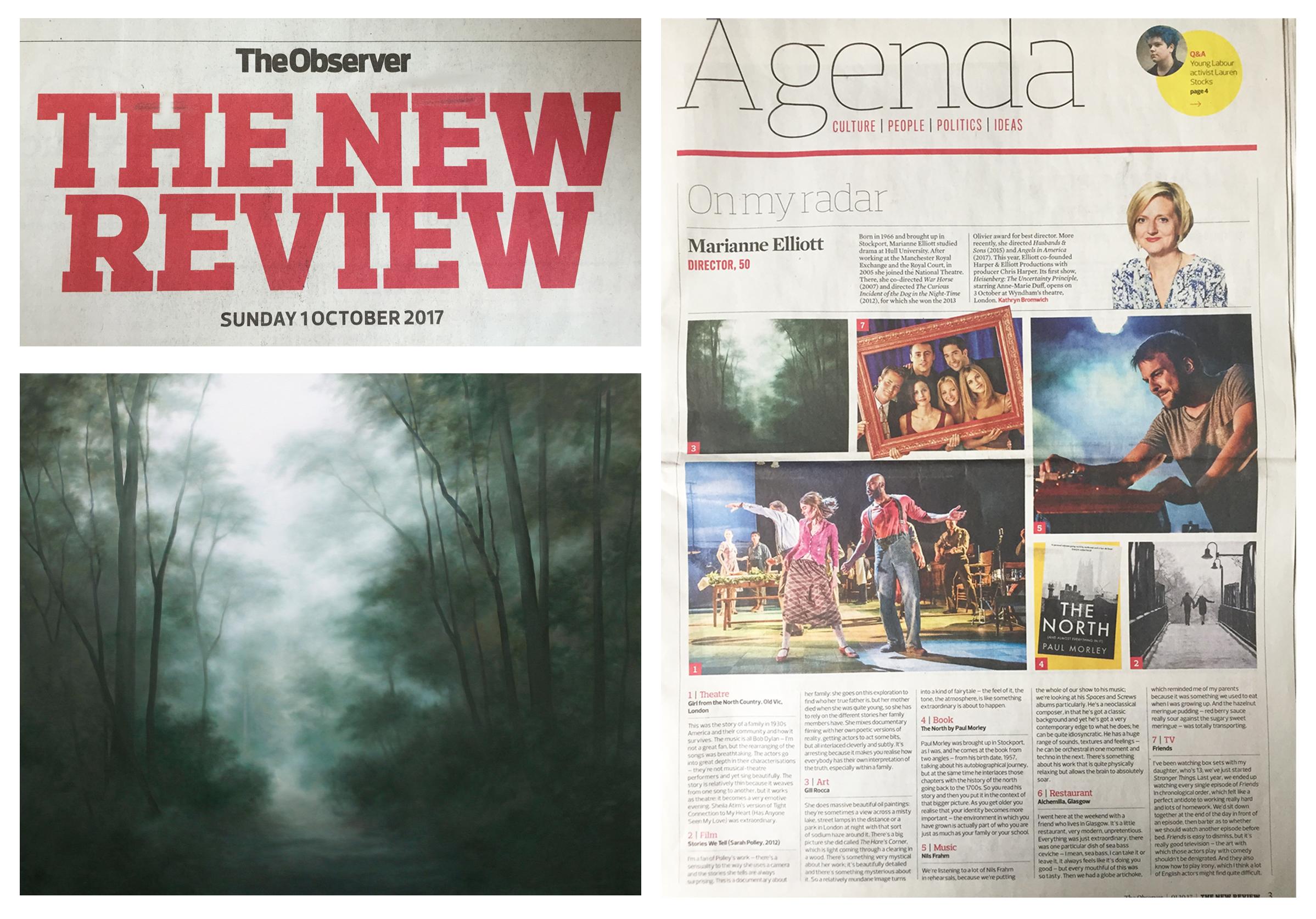 On My Radar: Marianne Elliott's Cultural Highlights | The Guardian 01.10.17  www.theguardian.com/culture/2017/oct/01/marianne-elliott-cultural-highlights
