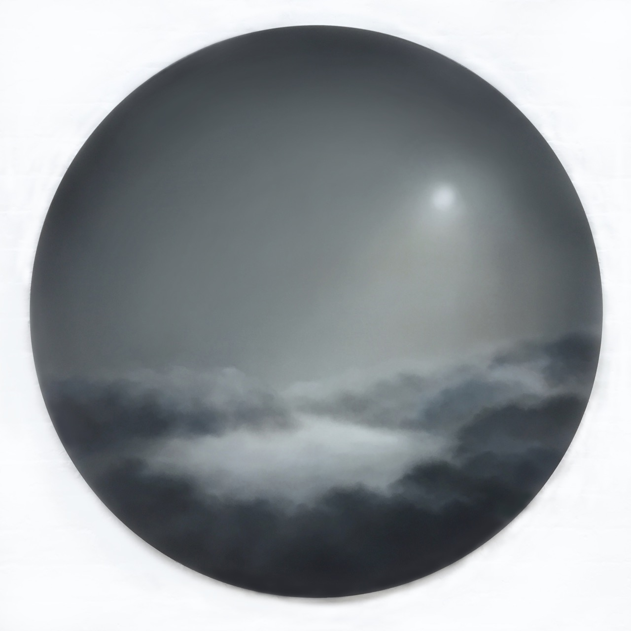 Where The Light Gets In, oil on wood, 122 x 122cm, 2019 London Art Fair, Stand 39, GBS Fine Art