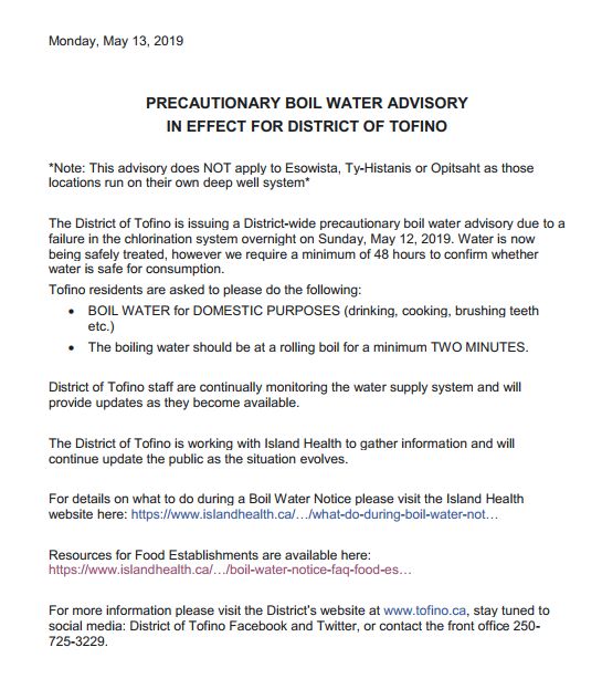 Precautionary Boil Water Advisory In Effect - District of Tofino.PNG