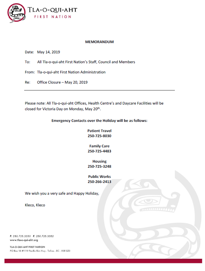 2019-05-14 Victoria Day Closure Notice.PNG