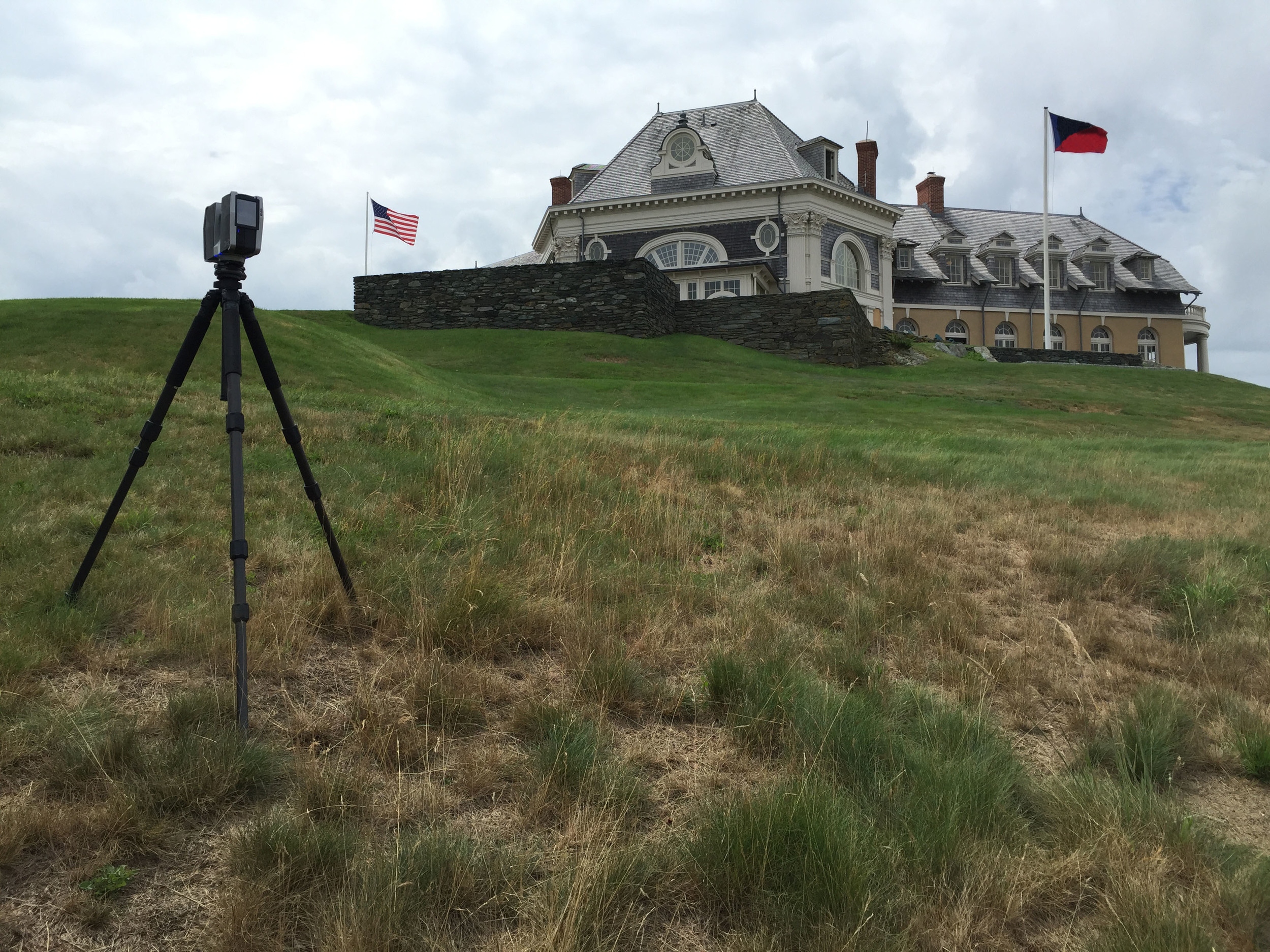 Our 3D laser scanner was used to record the building exterior and nearby topography.