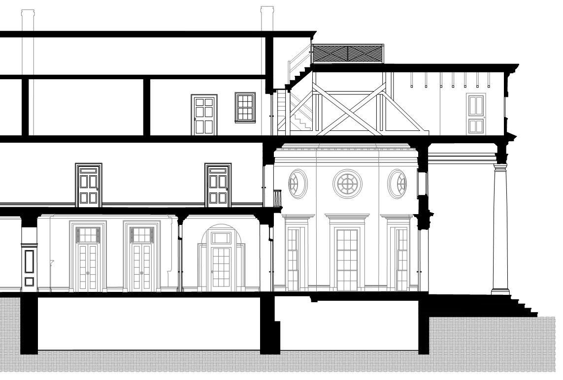 This helps us to create a traditional building section drawing.