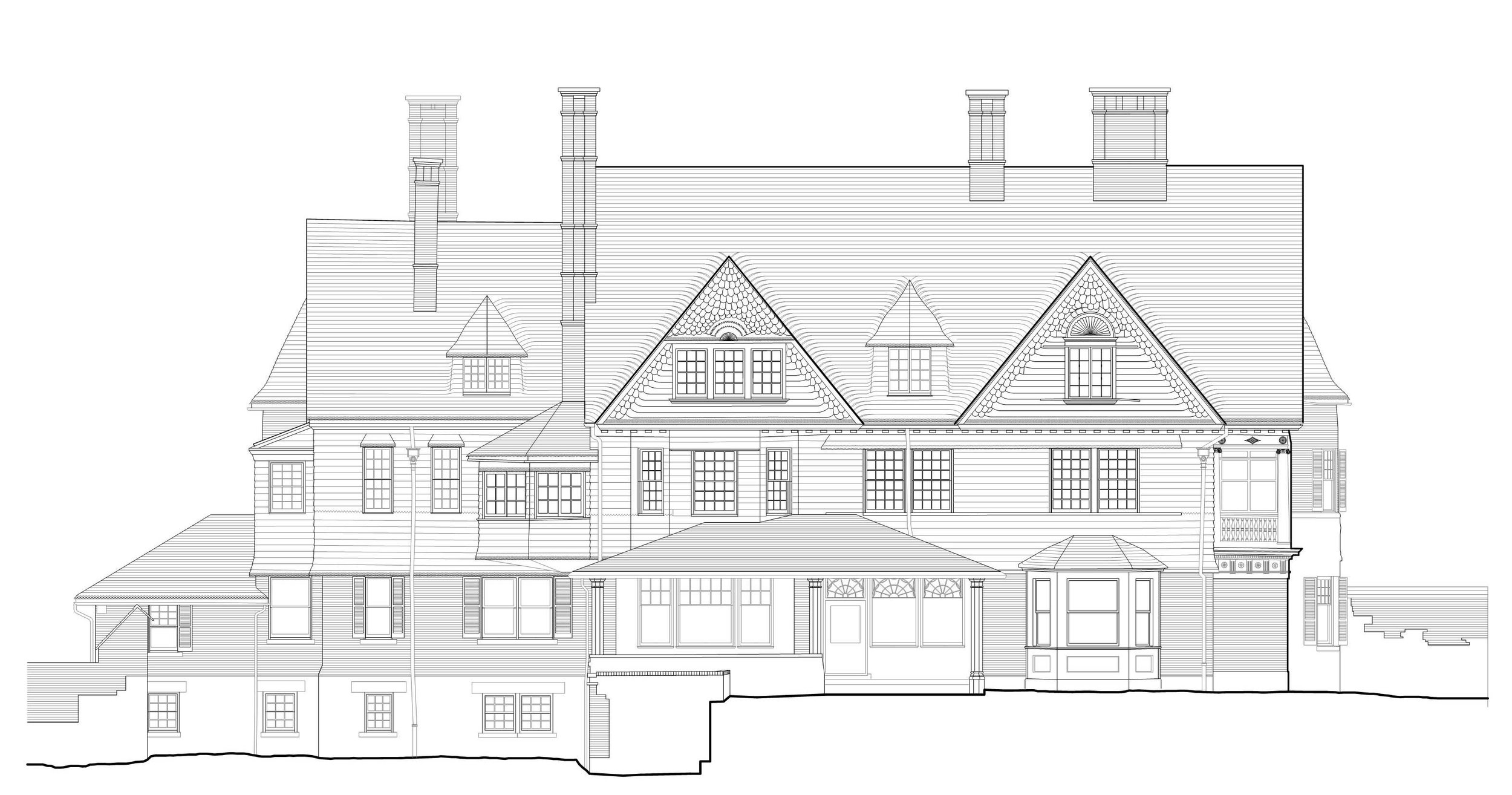 Final elevation drawing