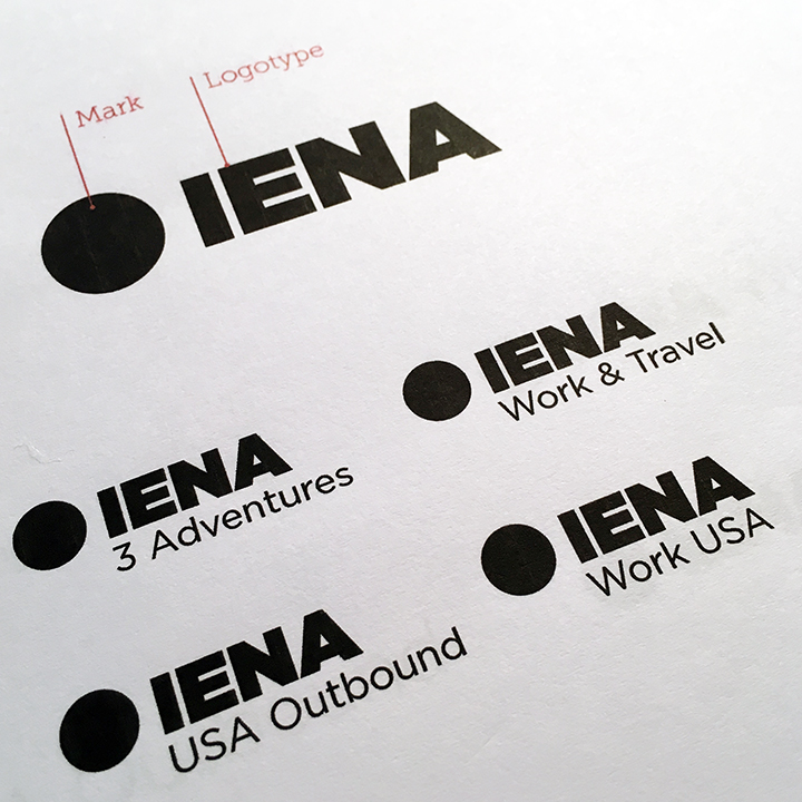 The original brief requested a main logo with applications for each of the separate companies which existed prior to the merger.