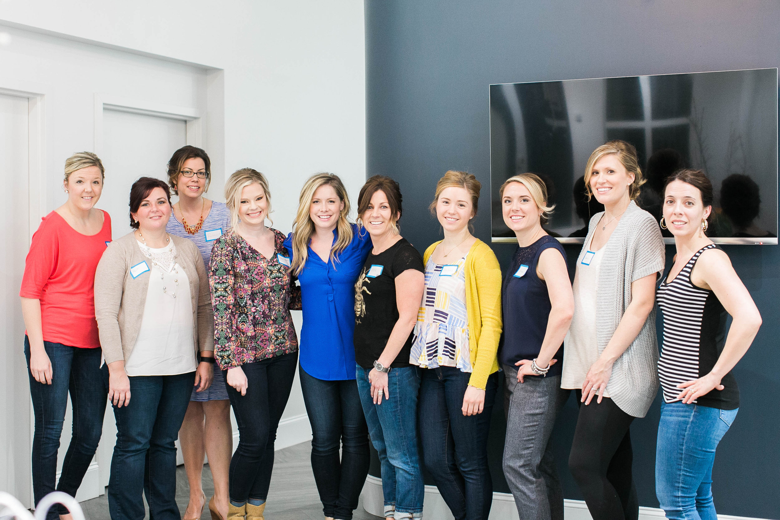 All of the ladies after our up-do class     Photo by Jordan Maunder