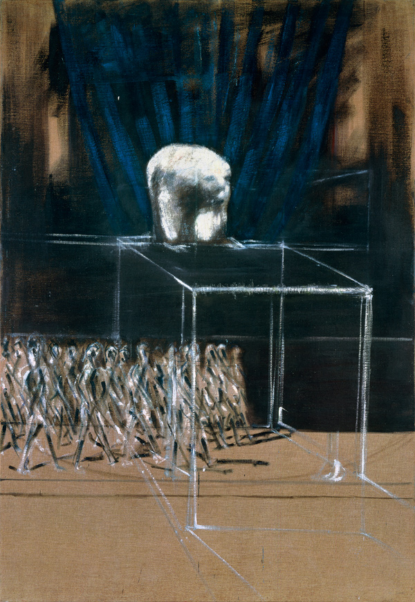 'Marching Figures', c. 1952 Oil on canvas 78 × 54 in. (198.1 × 137.2 cm) Private collection Photo: Prudence Cuming Associates Ltd. © The Estate of Francis Bacon. All rights reserved / DACS 2016