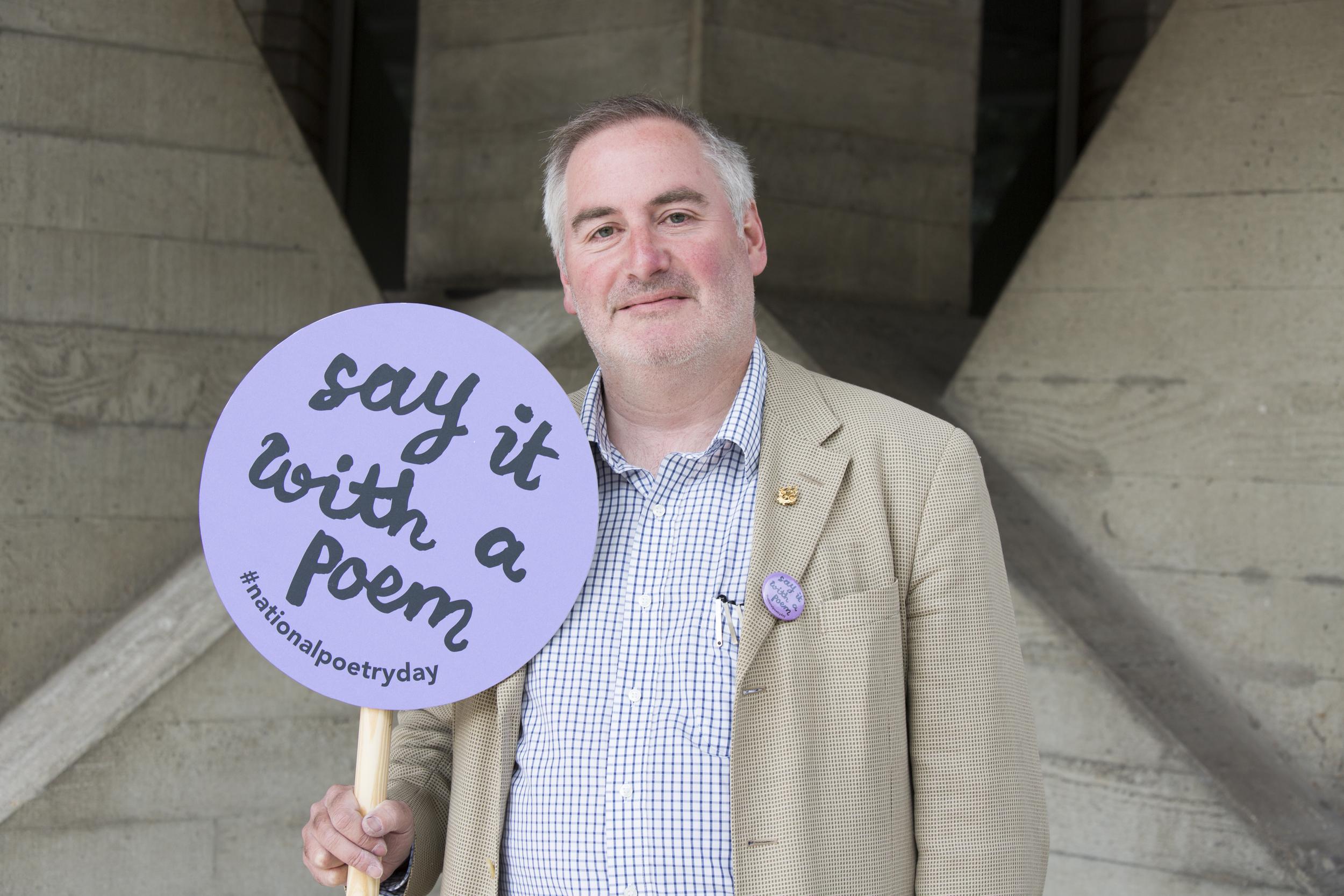 Chris Riddell - National Poetry Day - Credit Ellie Kurttz