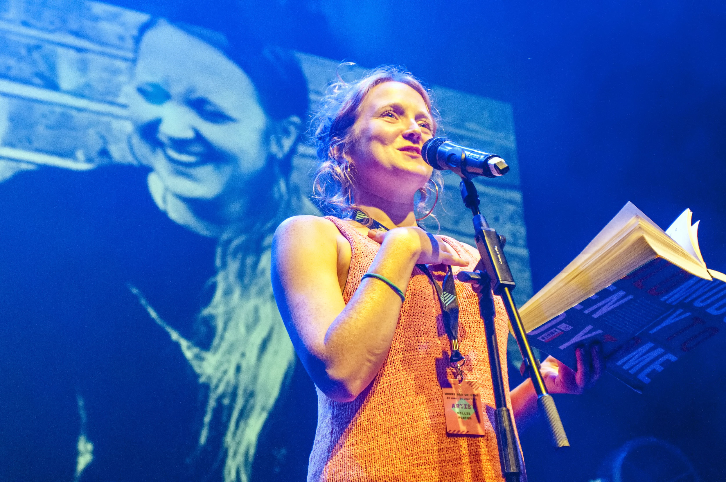 Hollie McNish, one of 12 local poets commissioned to write poetry inspired by local words. Credit Paul Newbon